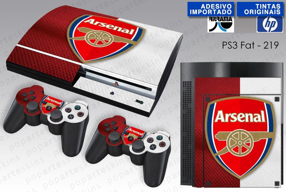 PS3 FAT SKIN - PS3 FAT SKIN - Arsenal Football Club - Pop Arte Skins Adesivos