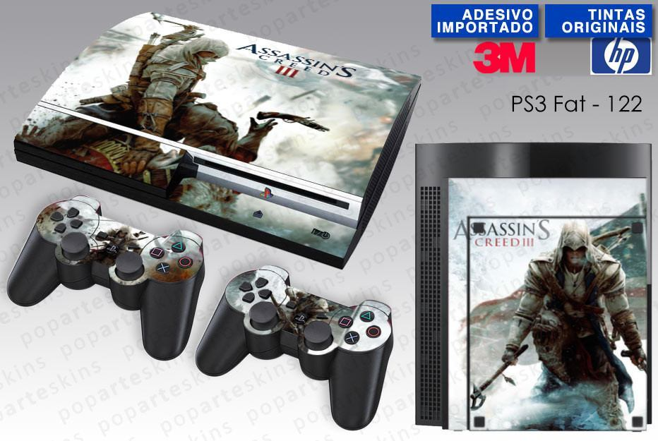 PS3 FAT SKIN - PS3 FAT SKIN - Assassins Creed 3 - Pop Arte Skins Adesivos