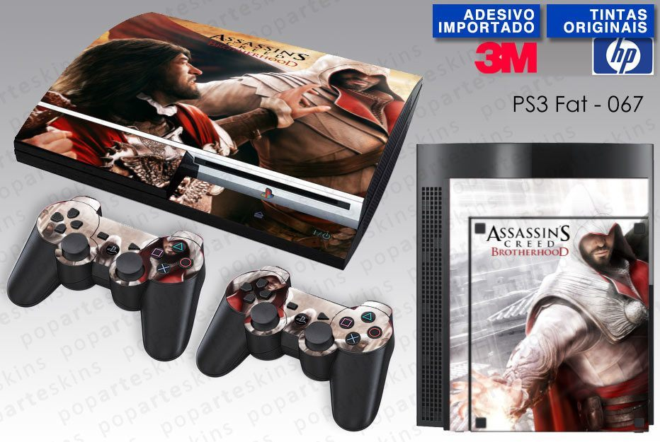 PS3 FAT SKIN - PS3 FAT SKIN - Assassins Creed Brotherhood - Pop Arte Skins Adesivos