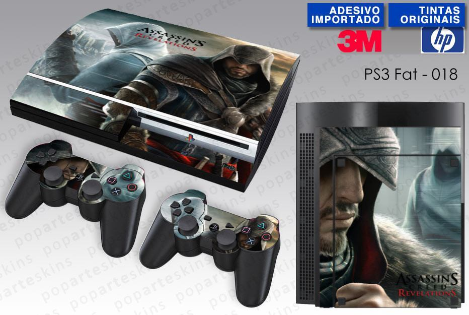 PS3 FAT SKIN - PS3 FAT SKIN - Assassins Creed Revelations - Pop Arte Skins Adesivos