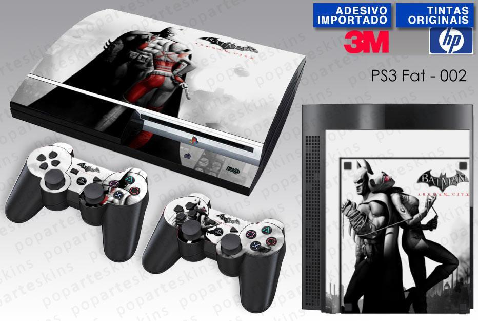 PS3 FAT SKIN - PS3 FAT SKIN - Batman Akham City - Pop Arte Skins Adesivos