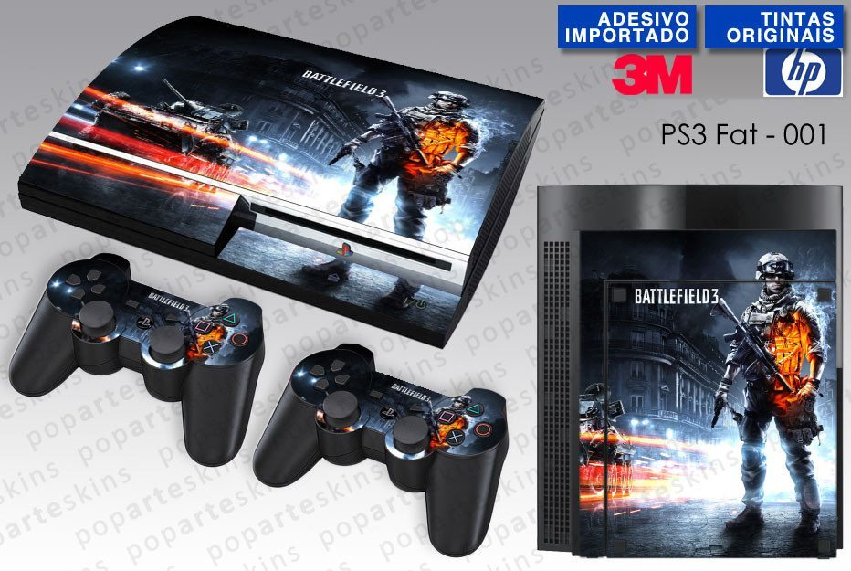 PS3 FAT SKIN - PS3 FAT SKIN - Battlefield 3 - Pop Arte Skins Adesivos