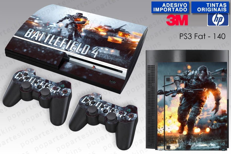 PS3 FAT SKIN - PS3 FAT SKIN - Battlefield 4 - Pop Arte Skins Adesivos