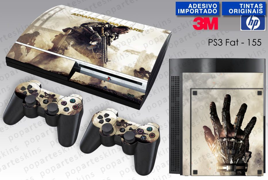 PS3 FAT SKIN - PS3 FAT SKIN - Call of Duty Advanced Warfare - Pop Arte Skins Adesivos
