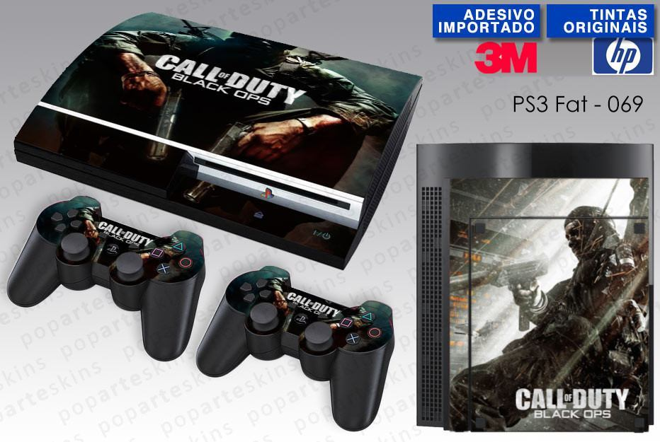 PS3 FAT SKIN - PS3 FAT SKIN - Call of Duty Black Ops - Pop Arte Skins Adesivos