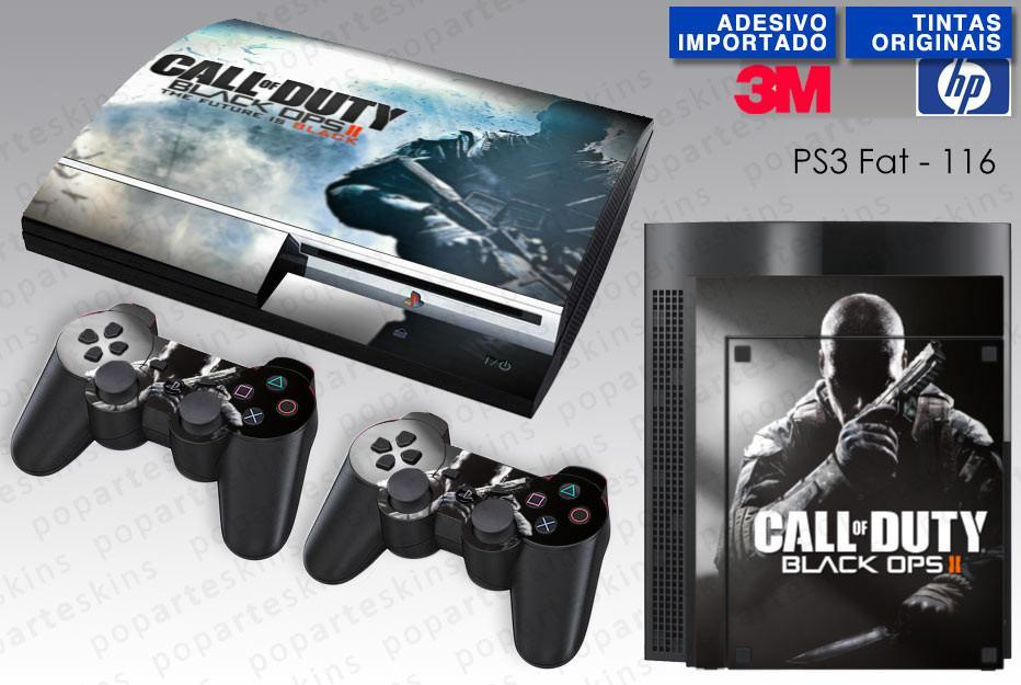 PS3 FAT SKIN - PS3 FAT SKIN - Call of Duty Black Ops 2 - Pop Arte Skins Adesivos