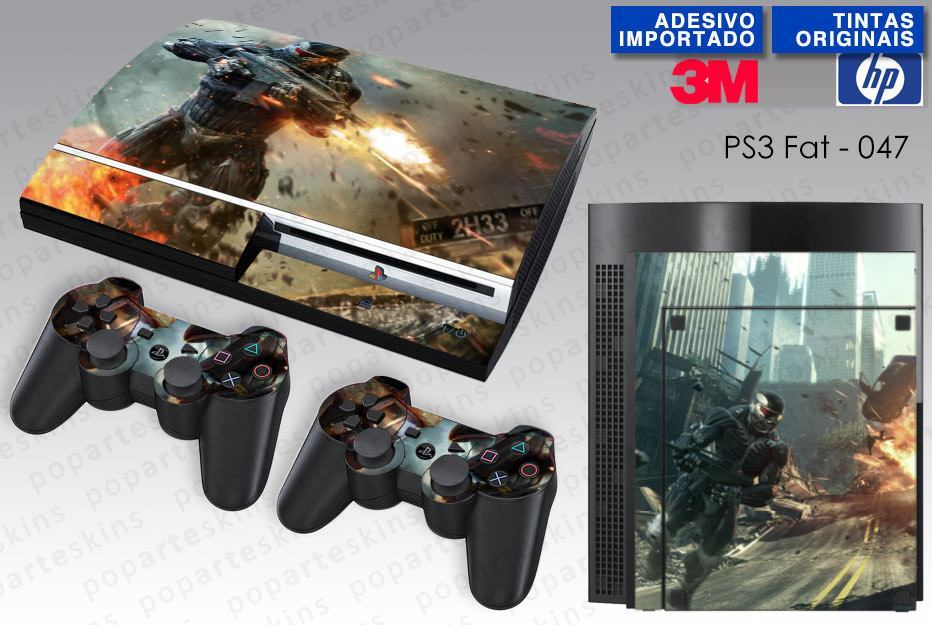 PS3 FAT SKIN - PS3 FAT SKIN - Crysis 2 - Pop Arte Skins Adesivos