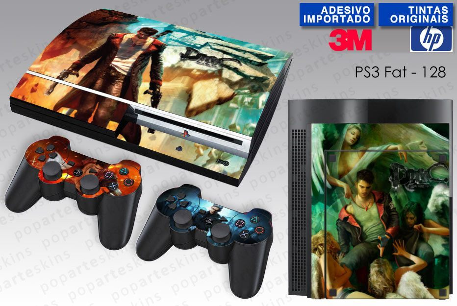PS3 FAT SKIN - PS3 FAT SKIN - Devil May Cry - Pop Arte Skins Adesivos