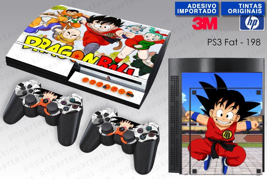PS3 FAT SKIN - PS3 FAT SKIN - Dragon Ball Clássico - Pop Arte Skins Adesivos