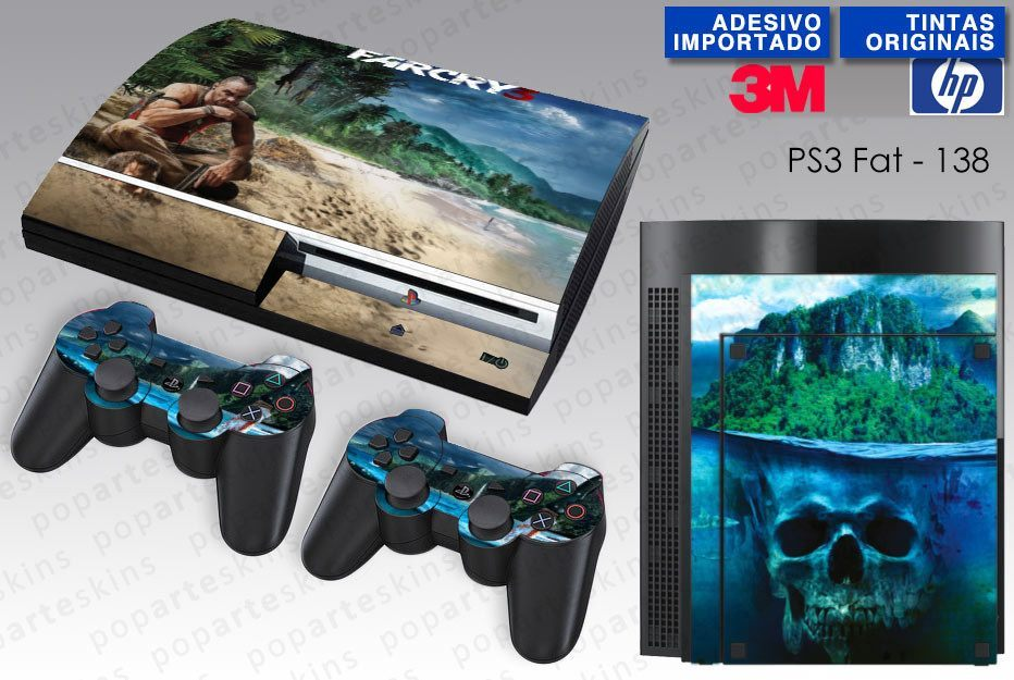 PS3 FAT SKIN - PS3 FAT SKIN - Far Cry 3 - Pop Arte Skins Adesivos