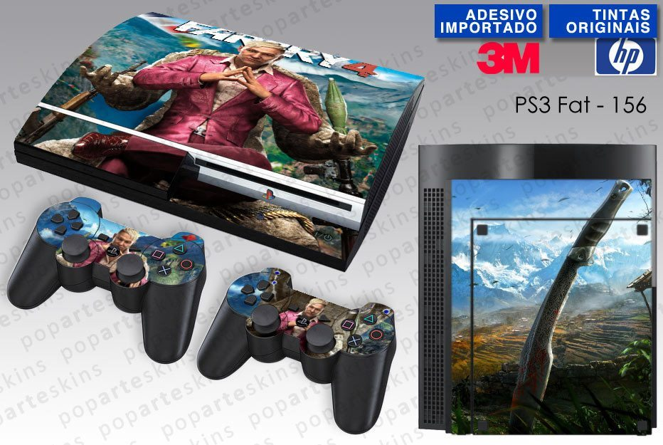 PS3 FAT SKIN - PS3 FAT SKIN - Far Cry 4 - Pop Arte Skins Adesivos