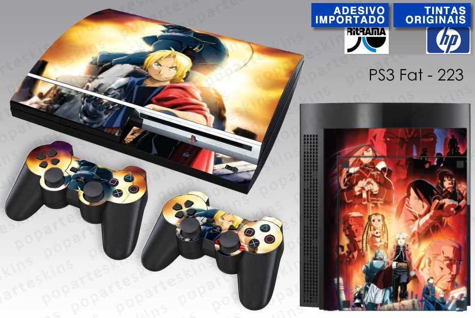 PS3 FAT SKIN - PS3 FAT SKIN - Fullmetal Alchemist: Brotherhood - Pop Arte Skins Adesivos