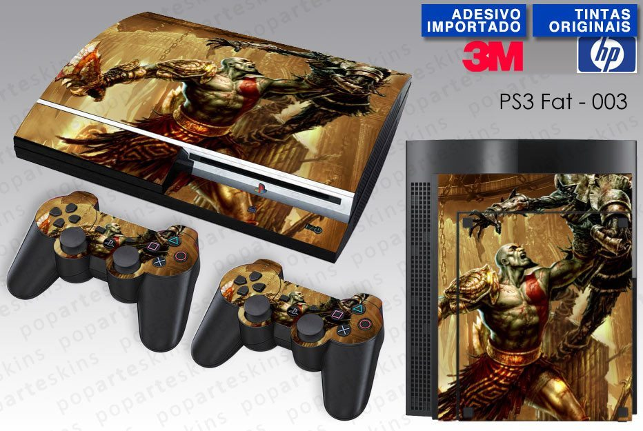 PS3 FAT SKIN - PS3 FAT SKIN - God of War 3 - Pop Arte Skins Adesivos