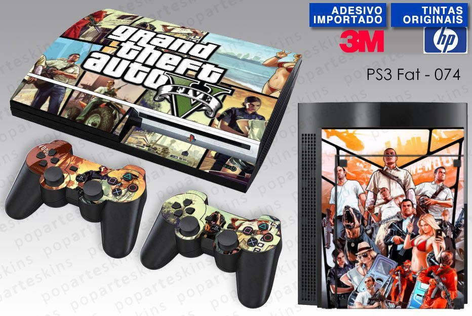 PS3 FAT SKIN - PS3 FAT SKIN - GTA V - Pop Arte Skins Adesivos