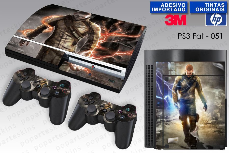 PS3 FAT SKIN - PS3 FAT SKIN - Infamous - Pop Arte Skins Adesivos