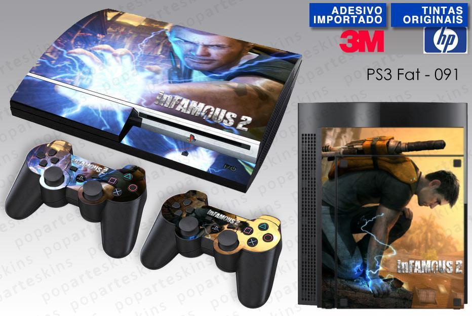 PS3 FAT SKIN - PS3 FAT SKIN - Infamous 2 - Pop Arte Skins Adesivos