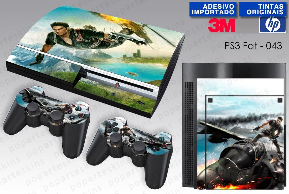 PS3 FAT SKIN - PS3 FAT SKIN - Just Cause 2 - Pop Arte Skins Adesivos