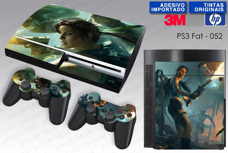 PS3 FAT SKIN - PS3 FAT SKIN - Lara Croft and the Guardian of Light - Pop Arte Skins Adesivos