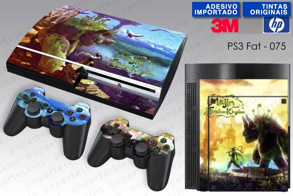 PS3 FAT SKIN - PS3 FAT SKIN - Majin and the Forsaken Kigdom - Pop Arte Skins Adesivos