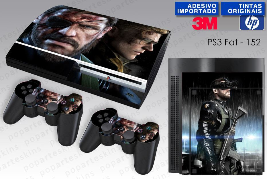 PS3 FAT SKIN - PS3 FAT SKIN - Metal Gear Solid V - Pop Arte Skins Adesivos