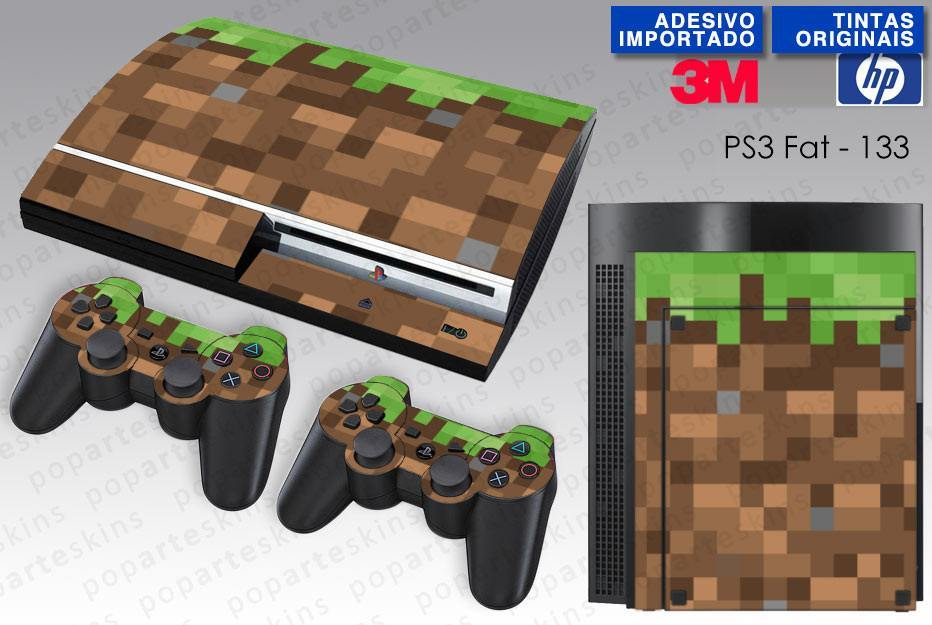 PS3 FAT SKIN - PS3 FAT SKIN - Minecraft - Pop Arte Skins Adesivos