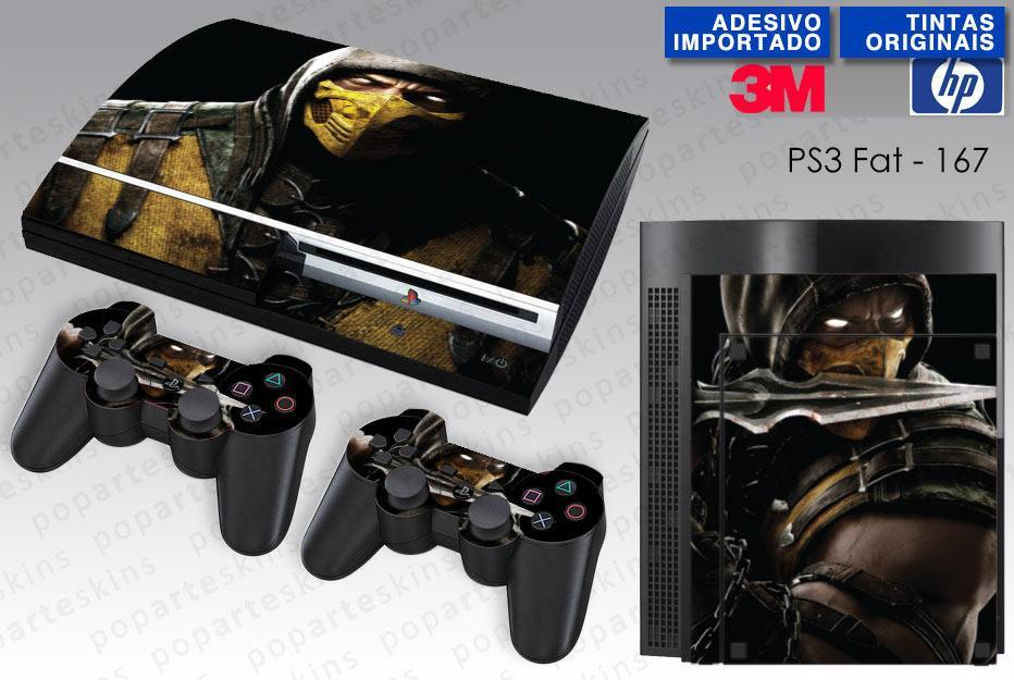 PS3 FAT SKIN - PS3 FAT SKIN - Mortal Kombat X Scorpion - Pop Arte Skins Adesivos