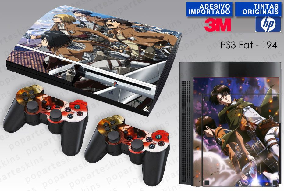 PS3 FAT SKIN - PS3 FAT SKIN - Shingeki No Kyojin - Pop Arte Skins Adesivos