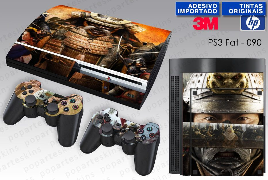 PS3 FAT SKIN - PS3 FAT SKIN - Shogun 2 Total War - Pop Arte Skins Adesivos