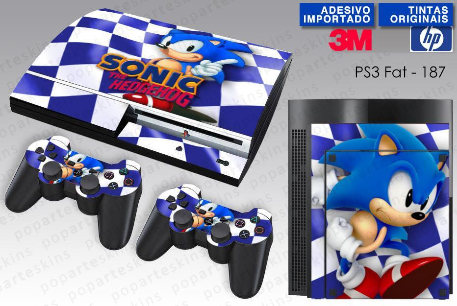 PS3 FAT SKIN - PS3 FAT SKIN - Sonic The Hedgehog - Pop Arte Skins Adesivos