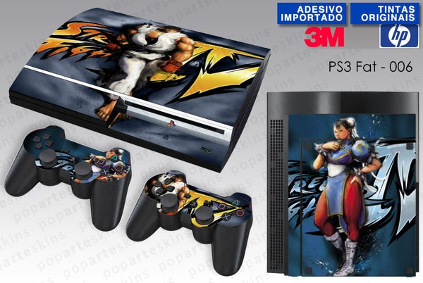 PS3 FAT SKIN - PS3 FAT SKIN - Street Fighter 4 - Pop Arte Skins Adesivos