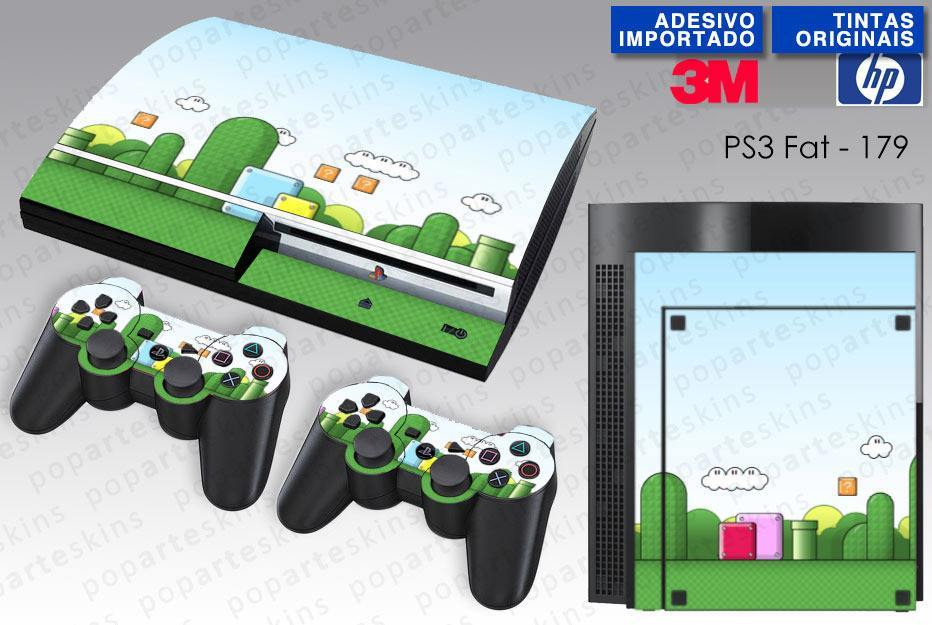 PS3 FAT SKIN - PS3 FAT SKIN - Super Mario Bros. - Pop Arte Skins Adesivos