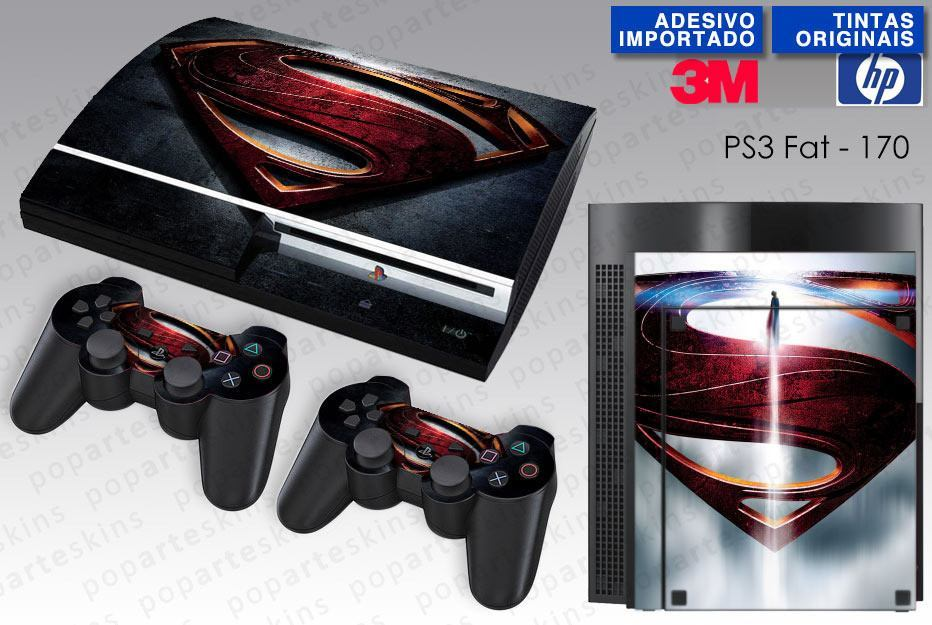 PS3 FAT SKIN - PS3 FAT SKIN - Superman - Man of Steel - Pop Arte Skins Adesivos