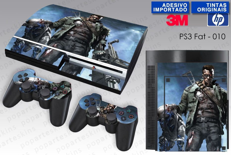 PS3 FAT SKIN - PS3 FAT SKIN - Terminator 3 The Redemption - Pop Arte Skins Adesivos