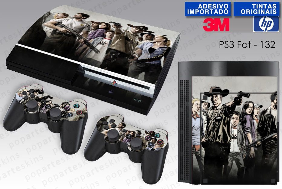 PS3 FAT SKIN - PS3 FAT SKIN - The Walking Dead - Pop Arte Skins Adesivos