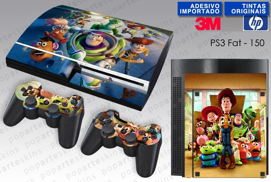 PS3 FAT SKIN - PS3 FAT SKIN - Toy Story - Pop Arte Skins Adesivos