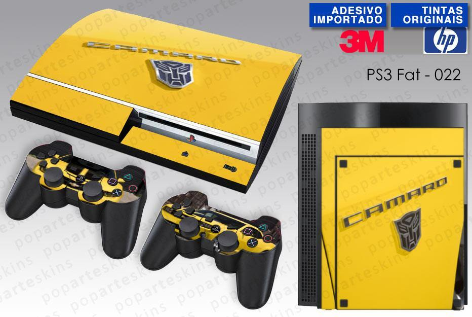 PS3 FAT SKIN - PS3 FAT SKIN - Transformers Camaro - Pop Arte Skins Adesivos