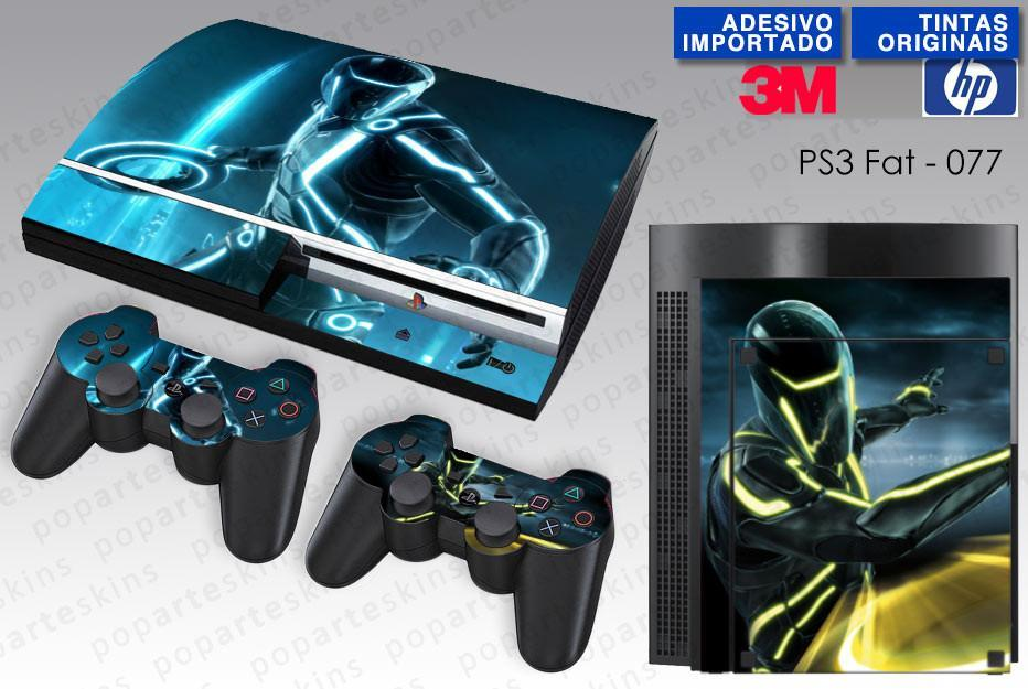 PS3 FAT SKIN - PS3 FAT SKIN - Tron Evolution - Pop Arte Skins Adesivos