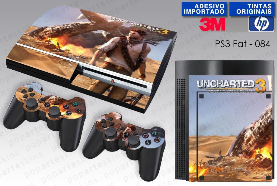 PS3 FAT SKIN - PS3 FAT SKIN - Uncharted 3 - Pop Arte Skins Adesivos