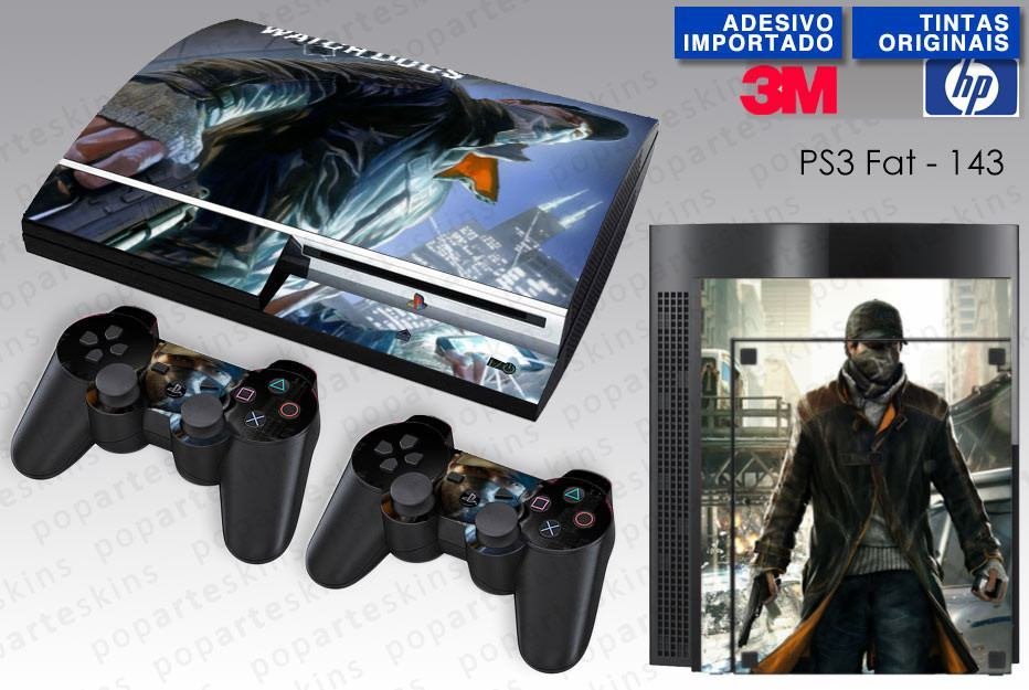 PS3 FAT SKIN - PS3 FAT SKIN - Watch Dogs - Pop Arte Skins Adesivos