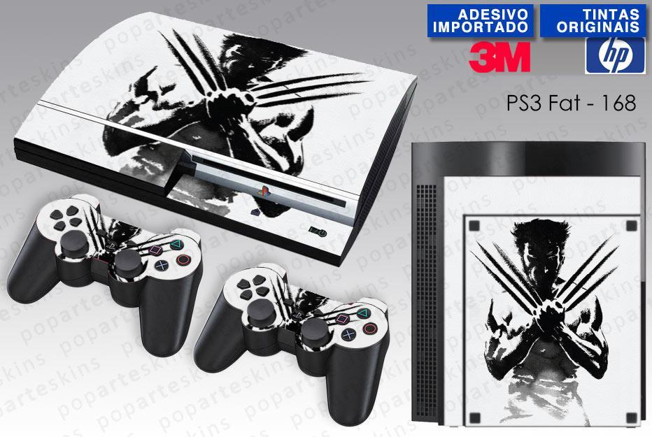 PS3 FAT SKIN - PS3 FAT SKIN - Wolverine X-men - Pop Arte Skins Adesivos