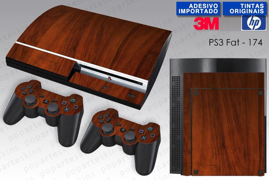 PS3 FAT SKIN - PS3 FAT SKIN - Wood Texture #1 - Pop Arte Skins Adesivos