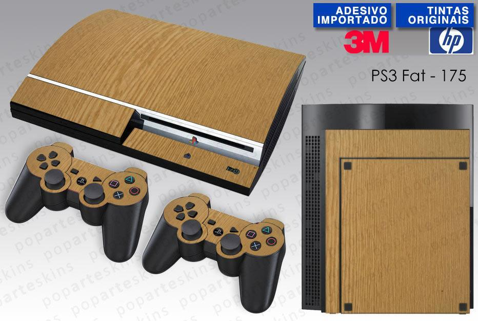 PS3 FAT SKIN - PS3 FAT SKIN - Wood Texture #2 - Pop Arte Skins Adesivos