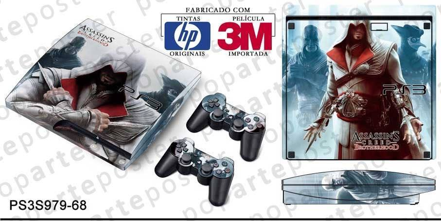 PS3 SLIM SKIN - PS3 SLIM SKIN - Assassins Creed Brotherhood - Pop Arte Skins Adesivos