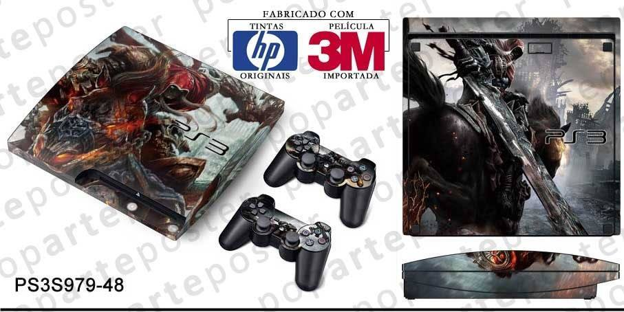 PS3 SLIM SKIN - PS3 SLIM SKIN - Darksiders Wrath of War - Pop Arte Skins Adesivos