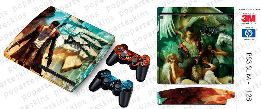PS3 SLIM SKIN - PS3 SLIM SKIN - Devil May Cry - Pop Arte Skins Adesivos