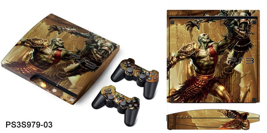 PS3 SLIM SKIN - PS3 SLIM SKIN - God of War 3 - Pop Arte Skins Adesivos