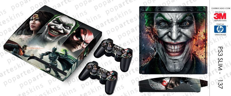 PS3 SLIM SKIN - PS3 SLIM SKIN - Injustice - Pop Arte Skins Adesivos