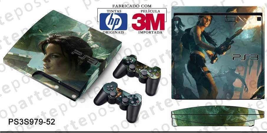 PS3 SLIM SKIN - PS3 SLIM SKIN - Lara Croft and the Guardian of Light - Pop Arte Skins Adesivos