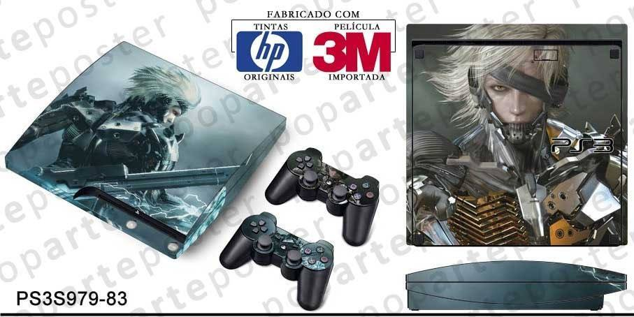 PS3 SLIM SKIN - PS3 SLIM SKIN - Metal Gear Solid Rising - Pop Arte Skins Adesivos