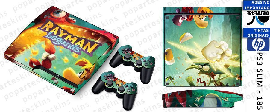 PS3 SLIM SKIN - PS3 SLIM SKIN - Rayman Legends - Pop Arte Skins Adesivos